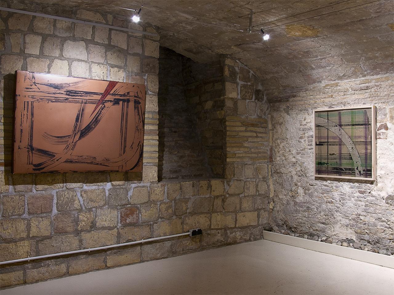 Vista de la exposición de Miguel Ángel Encuentra en Demodo Gráfico