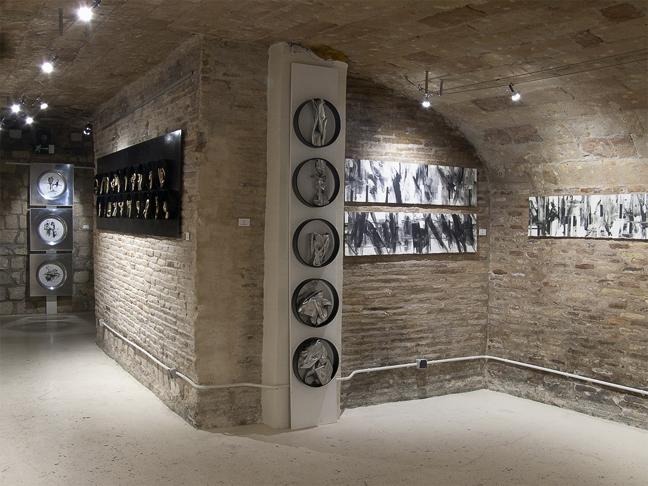 Vista de la exposición de Florencio de Pedro en Demodo Gráfico