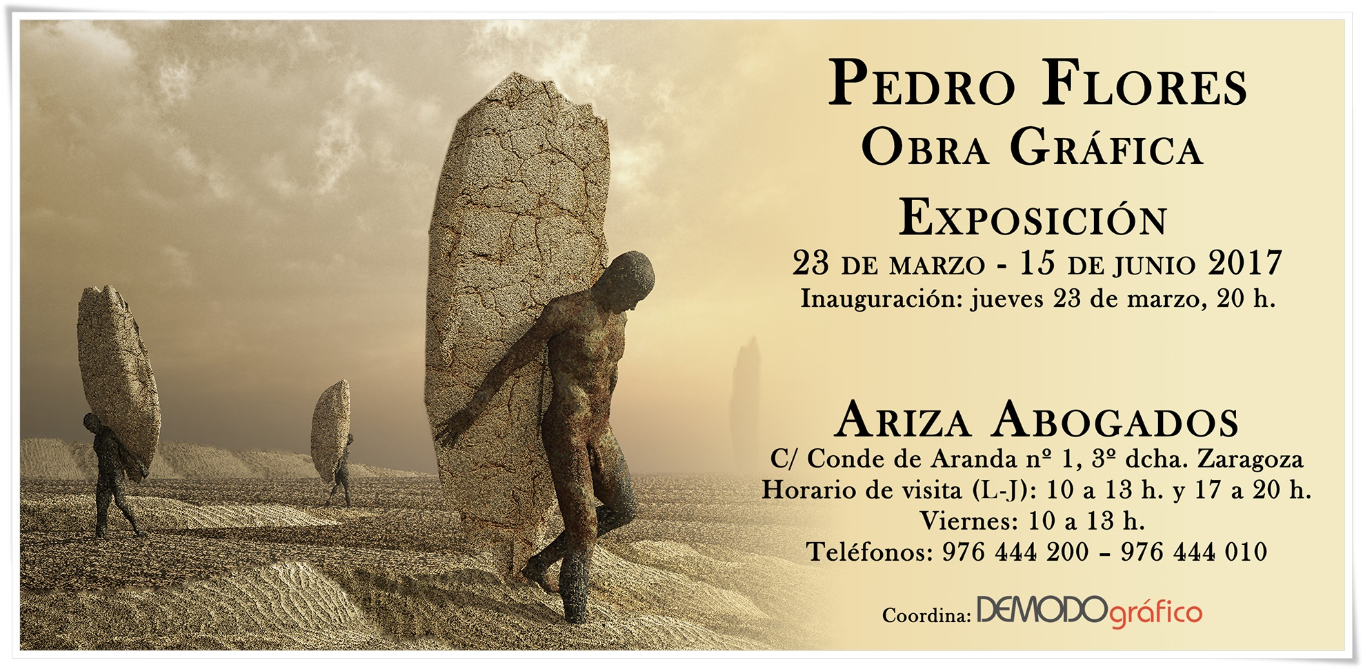 Exposición obra grafica Pedro Flores. Demodo Gráfico