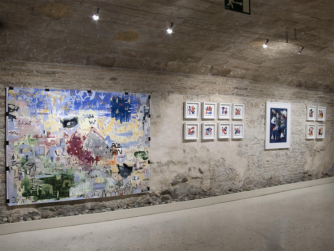 Vista de la exposición de Jorge de los Ríos en Demodo Gráfico